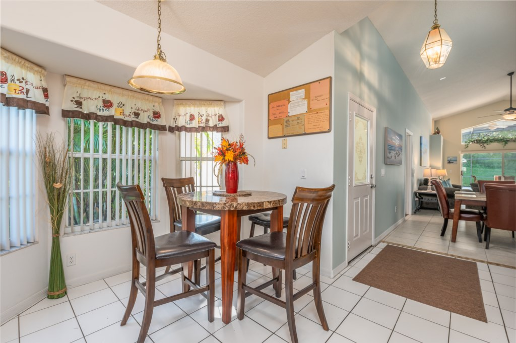 View 4 of gorgeous kitchen with dining area