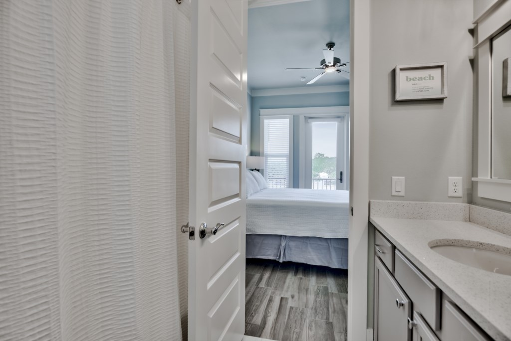 Easy access to the Master Bath from the Bedroom