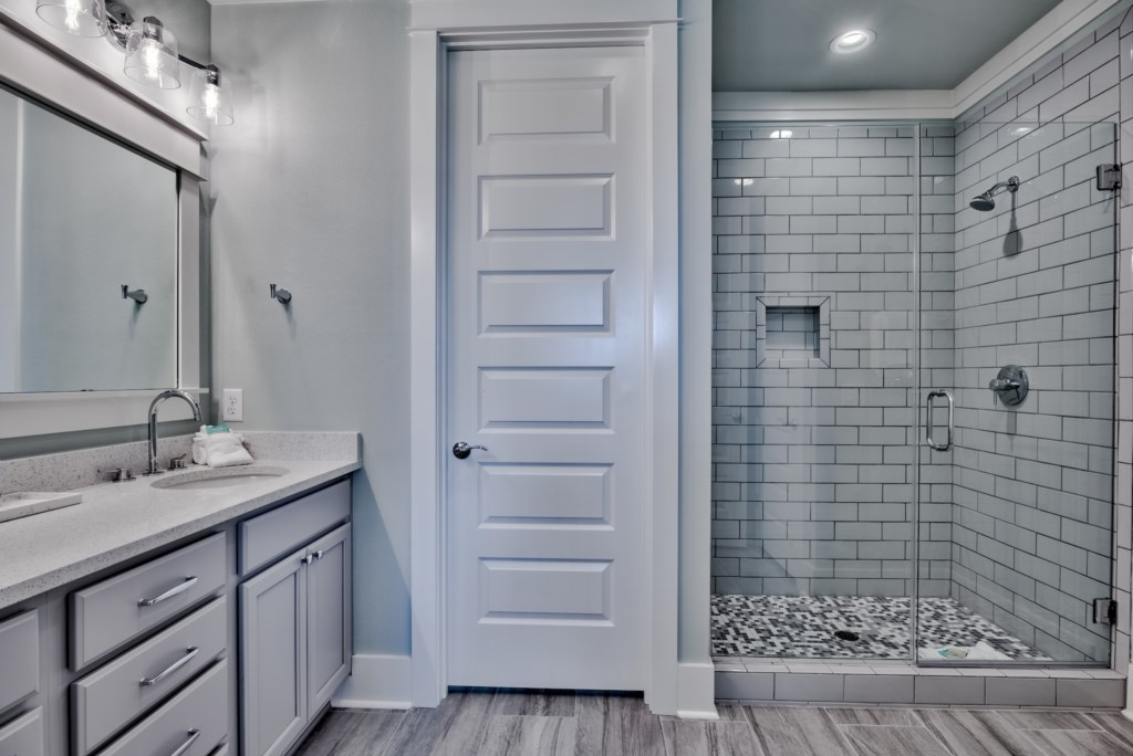 3rd Floor Master Bathroom with beautifully tiled walk-in shower