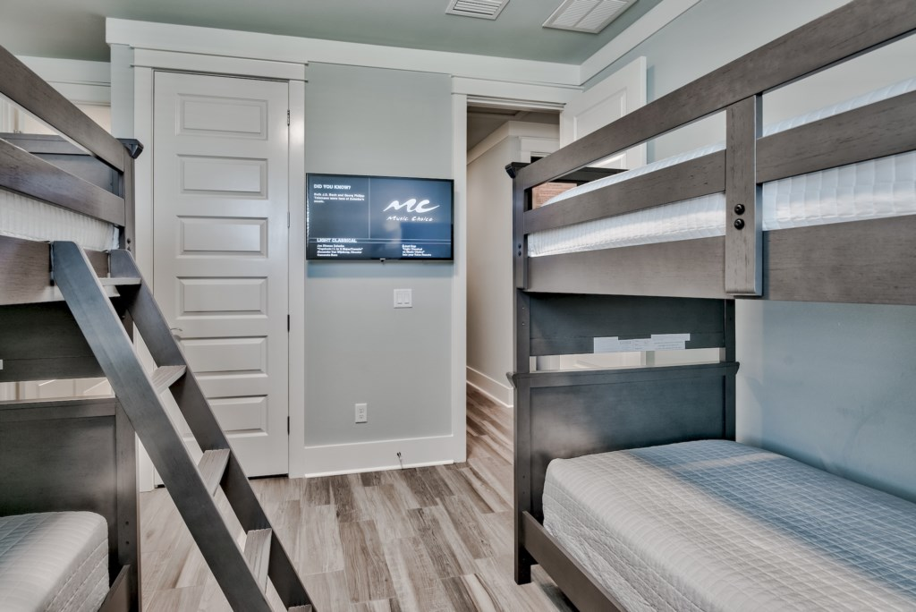 The children will love staying in a Bunk Bedroom with their own TV