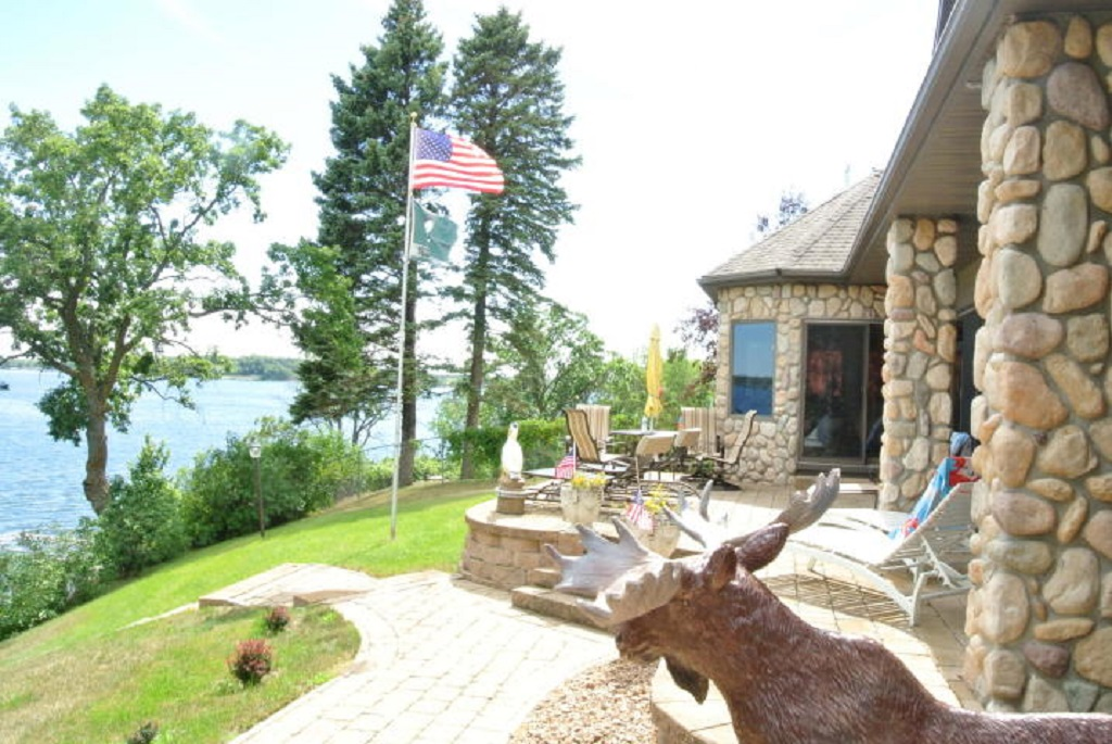 Spectacular views from this year round lake home on Big Pelican.