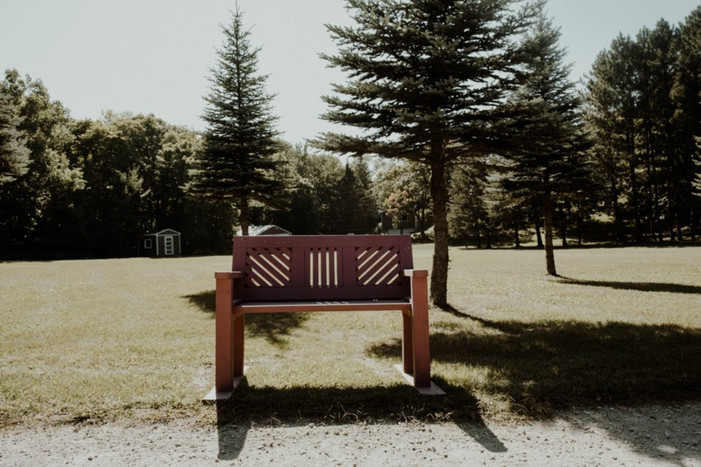 One of the many benches here at Holbrook.