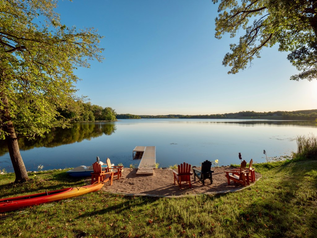 With just 5 homes on this environmental lake, experience solitude as you take it all in.