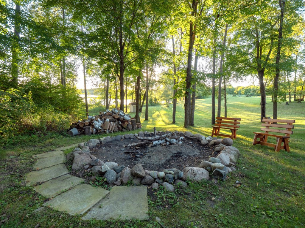 S'mores galore at this gigantic firepit.