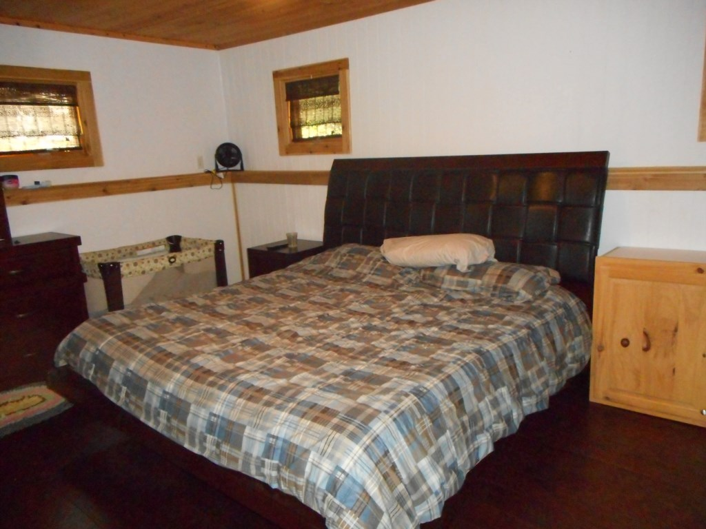 Bedroom 1:  Sleep sound on this king sized bed in the master bed room.