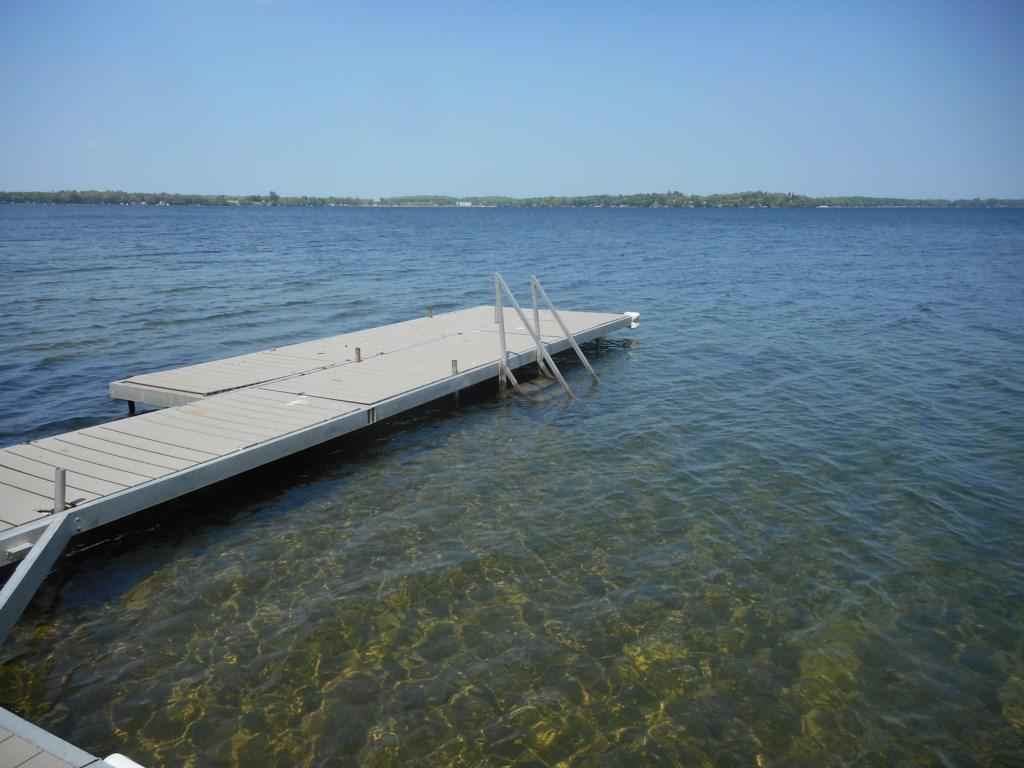Crystal clear waters of Pelican Lake.