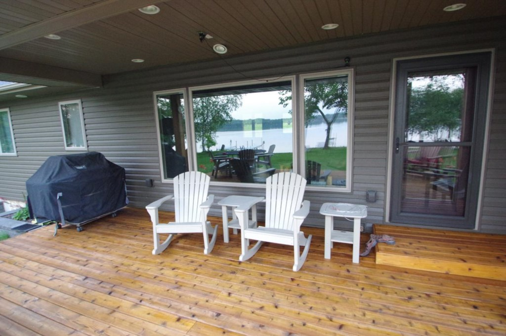 There is plenty of deck seating to host that perfect special gathering.