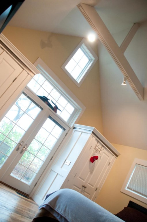 Beautiful vaulted ceiling in this bedroom