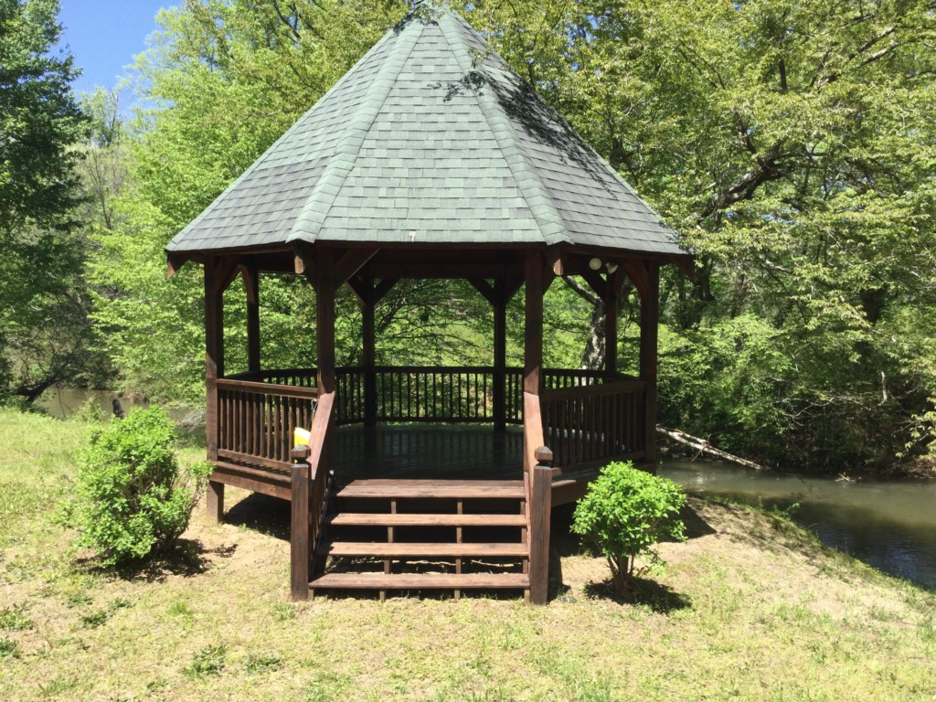 Enjoy gatherings in your Gazebo and take in the view