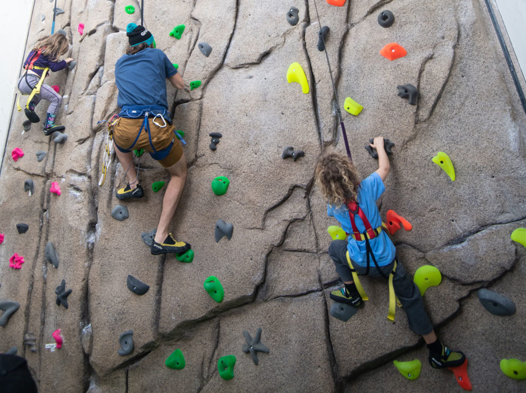 Rock Climbing Wall in Base Village