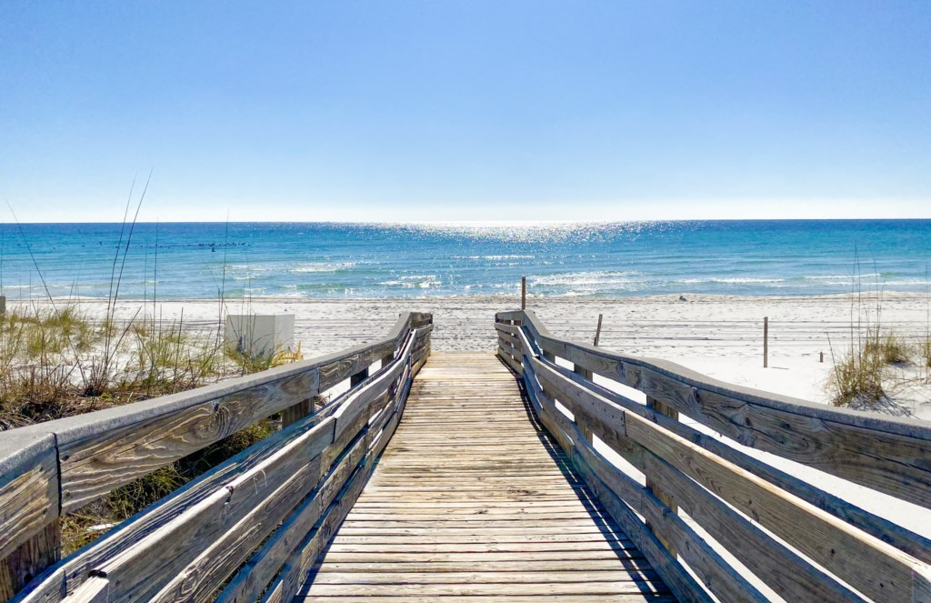 Emerald Isle's private beach walkway