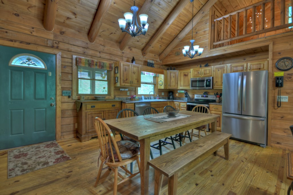 The Kitchen and Dining area are perfect for entertaining