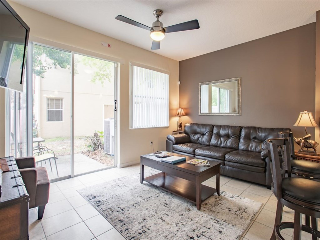 Comfortable sitting room with access to your patio area.