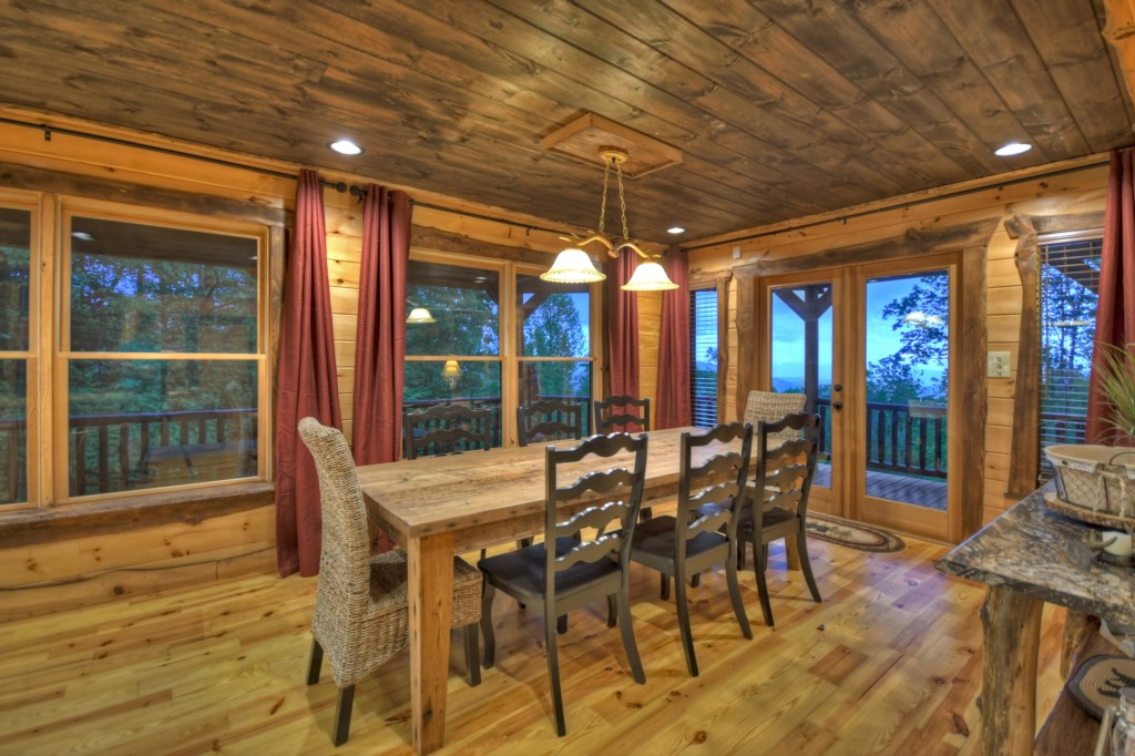 Beautiful Dining space with windows and views galore