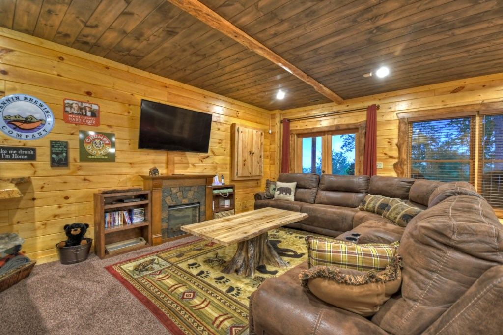 Comfortable cozy lounge spacious enough for large gatherings