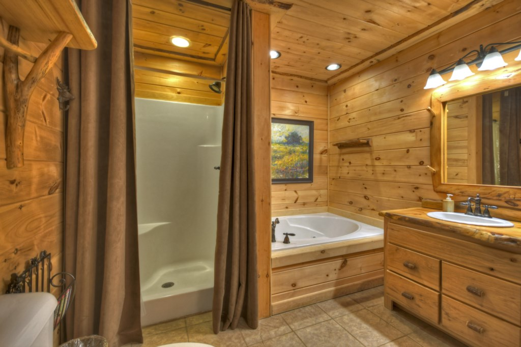 Seperate walk-in shower and tub