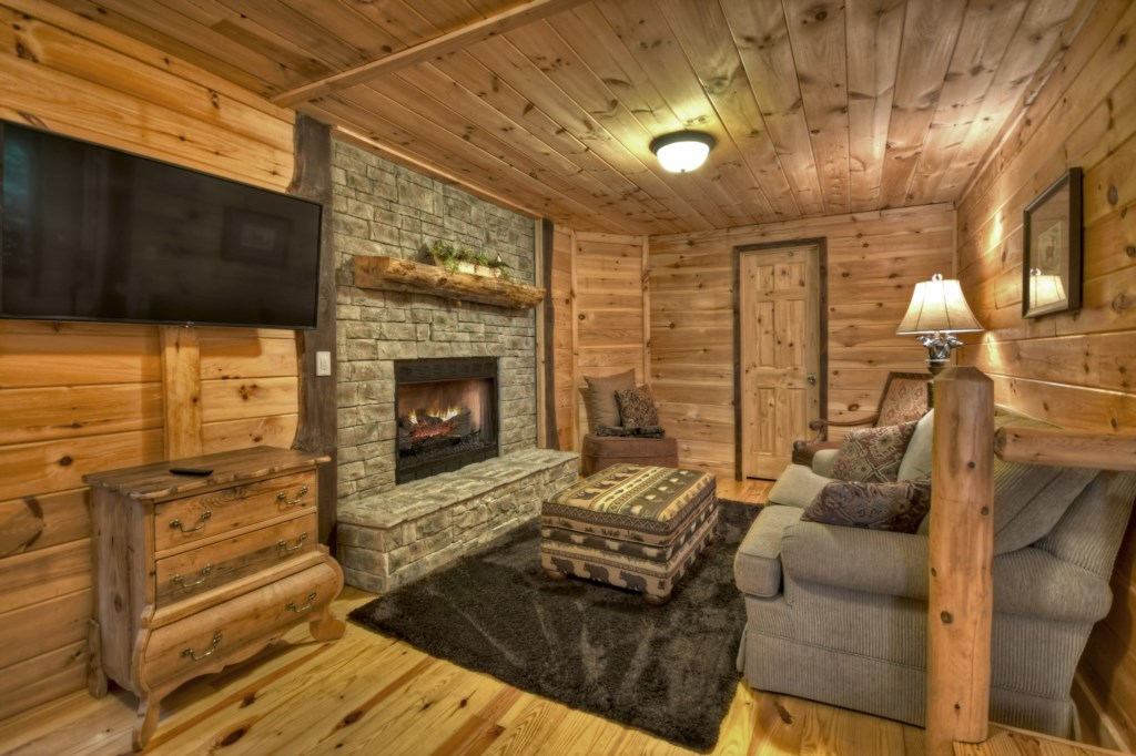 Fireplace in Main Level Master Bedroom