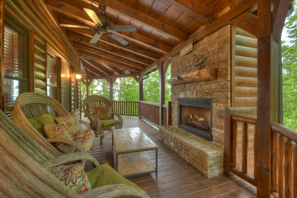 Outdoor living at its best with over 1200 feet of wrap around decks with gas fireplace