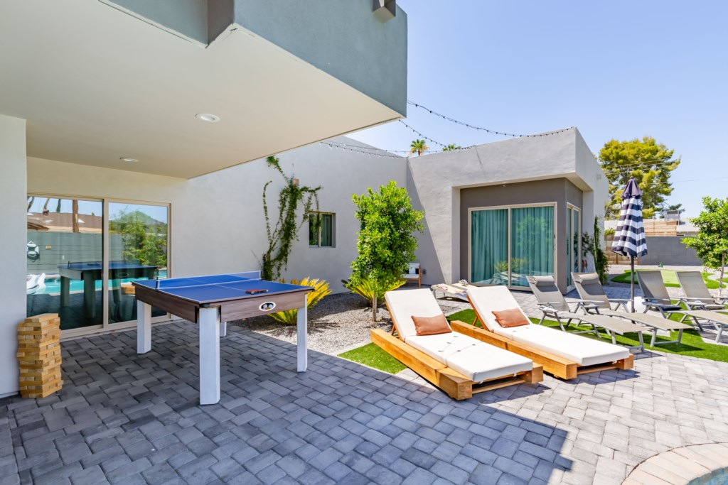 Lounge by the pool or play some ping-pong