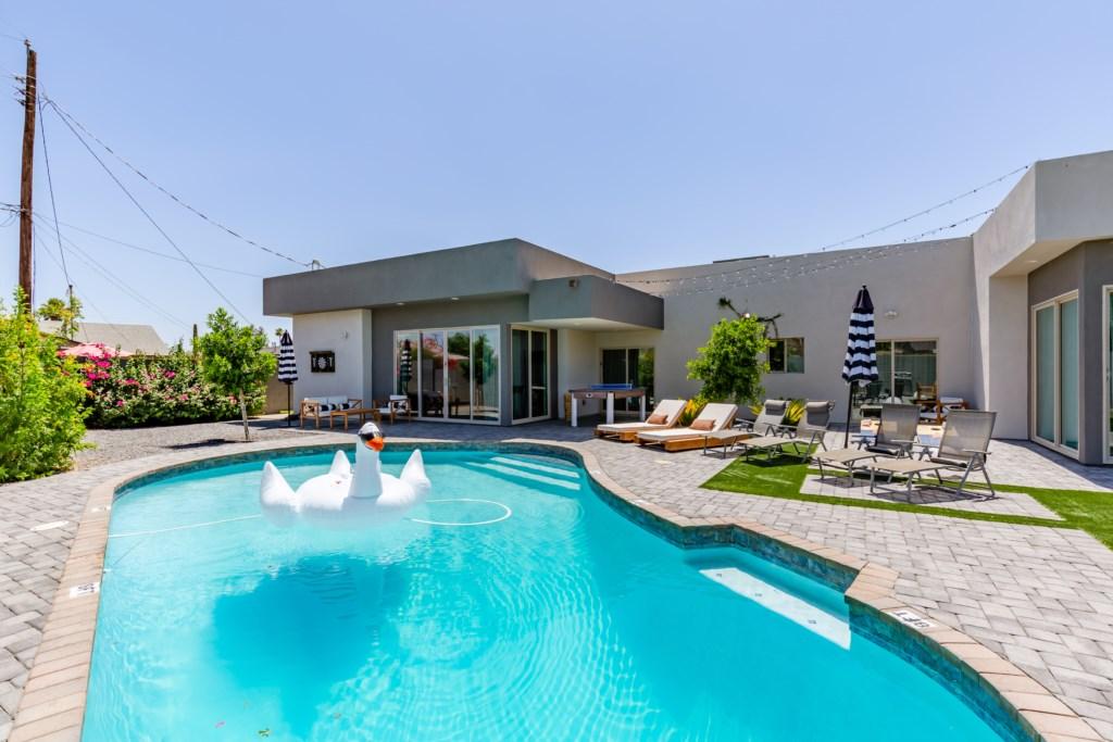 Beautiful new sparkling pool!