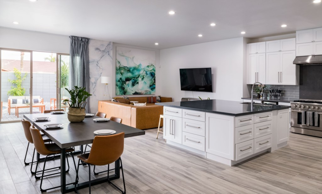 Dining and living right off kitchen
