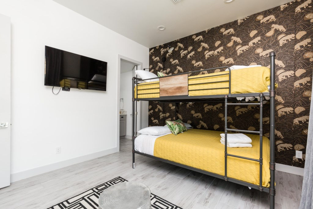 Second bedroom with full over full bunk beds