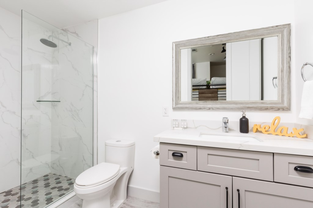 3rd bathroom with walk in shower