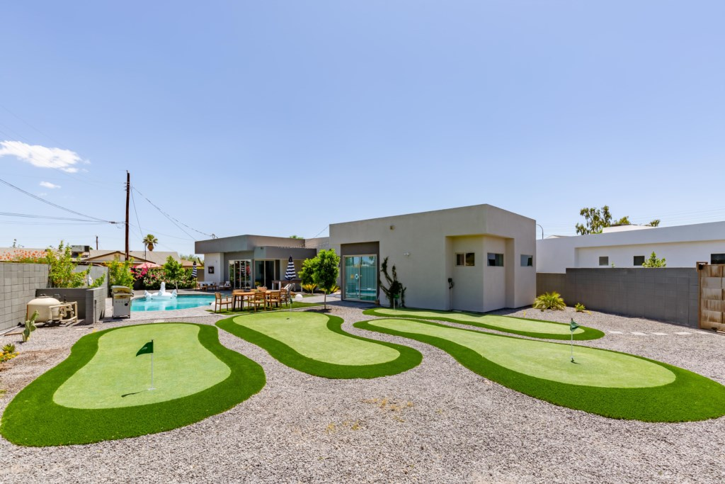 Brand new putting green