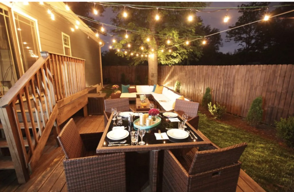 Enjoy fabulous ambiance on this spacious and comfortable deck