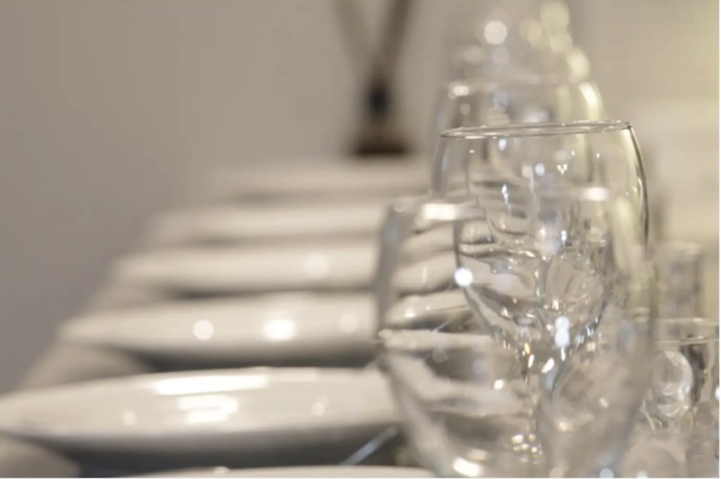 Plenty of seating and table settings for everyone