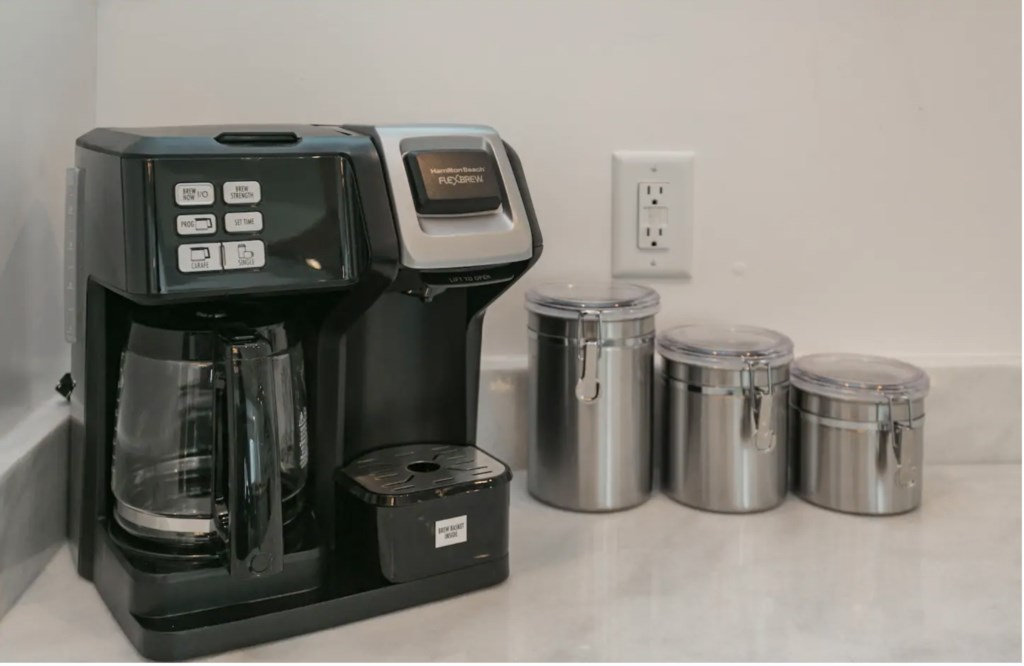 Coffee and coffee fixings included with your stay