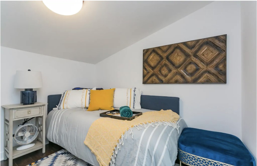 Twin bed located in the loft