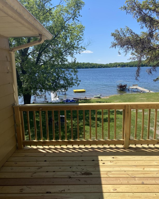 Newly constructed deck.