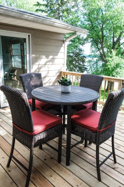 Listen to the birds, read a book, have a drink.  Enjoy the deck!