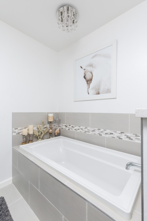 Master Bathroom with large soaking tub and huge walk in shower