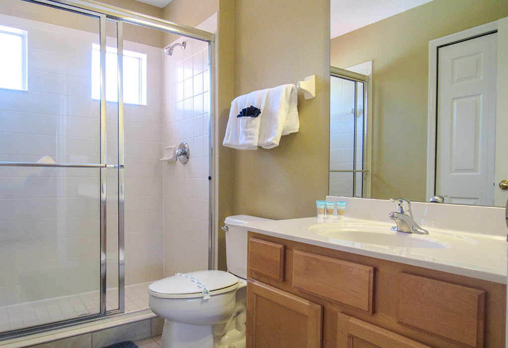 Upstairs Master en-suite bathroom with walk in shower.