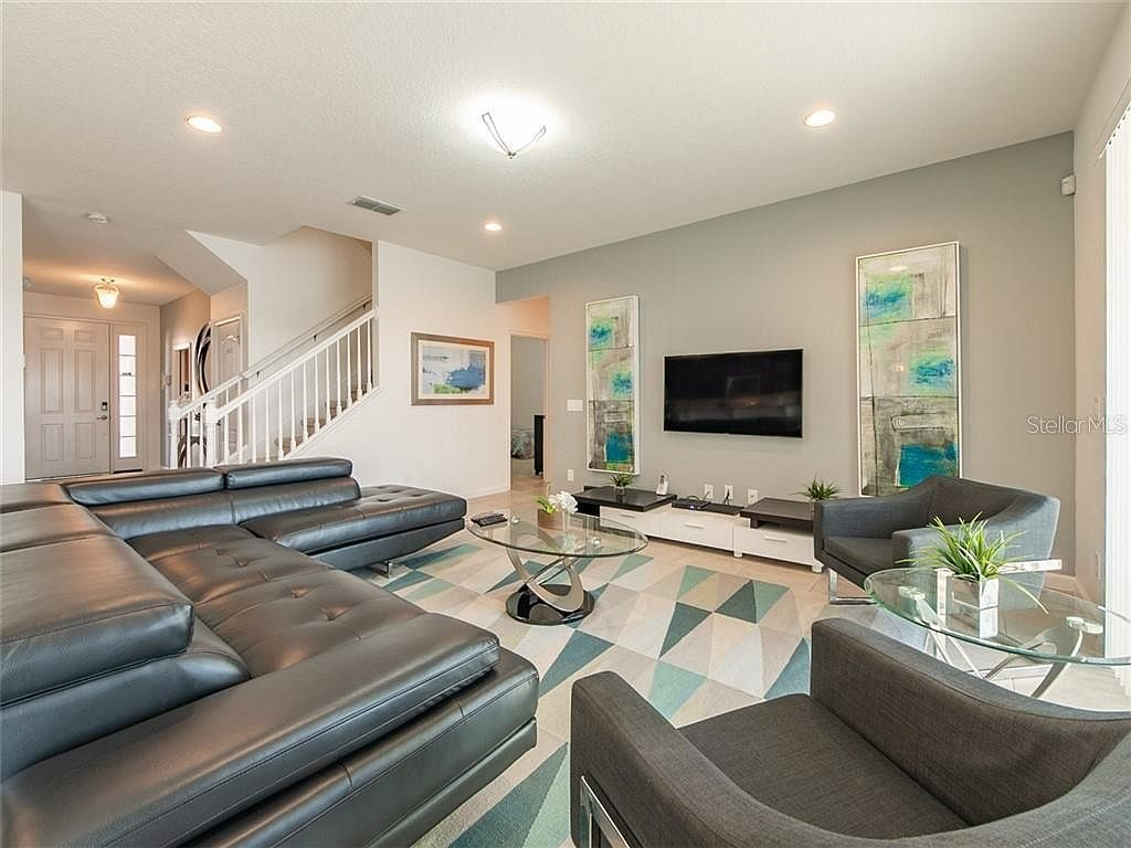 Downstairs Living Space with Large Flat Screen TV