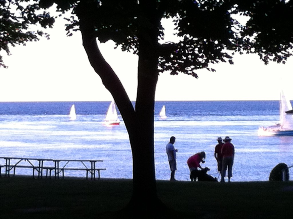 Watch the sunset and the see the Toronto skyline across Lake Ontario - NOTL
