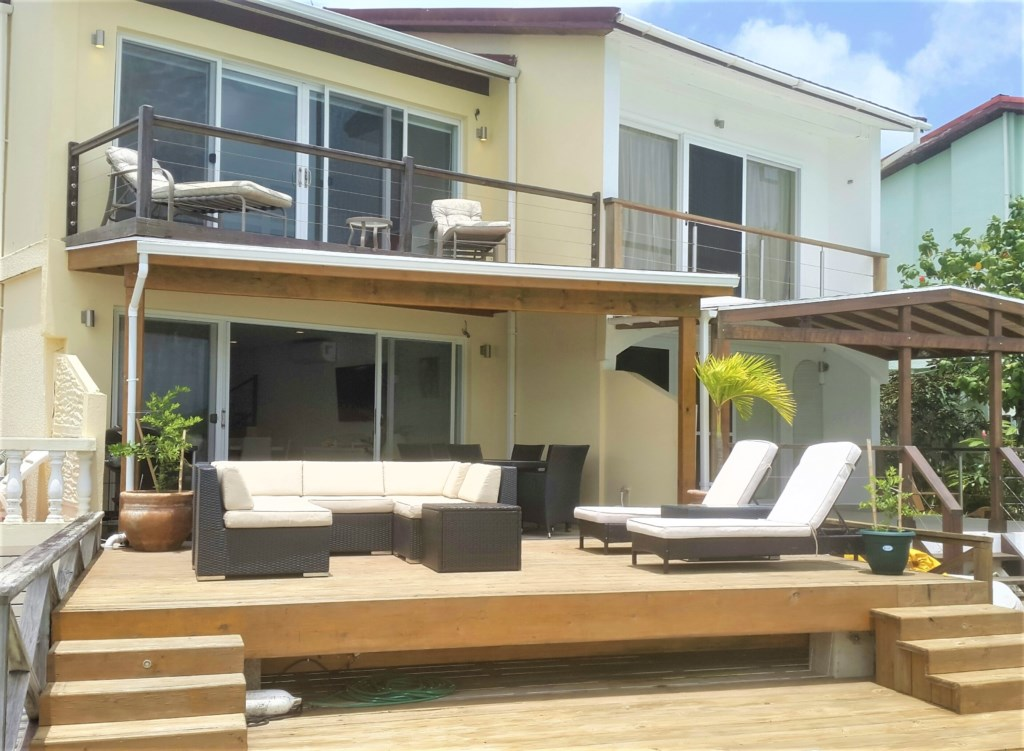 Deck and Master balcony