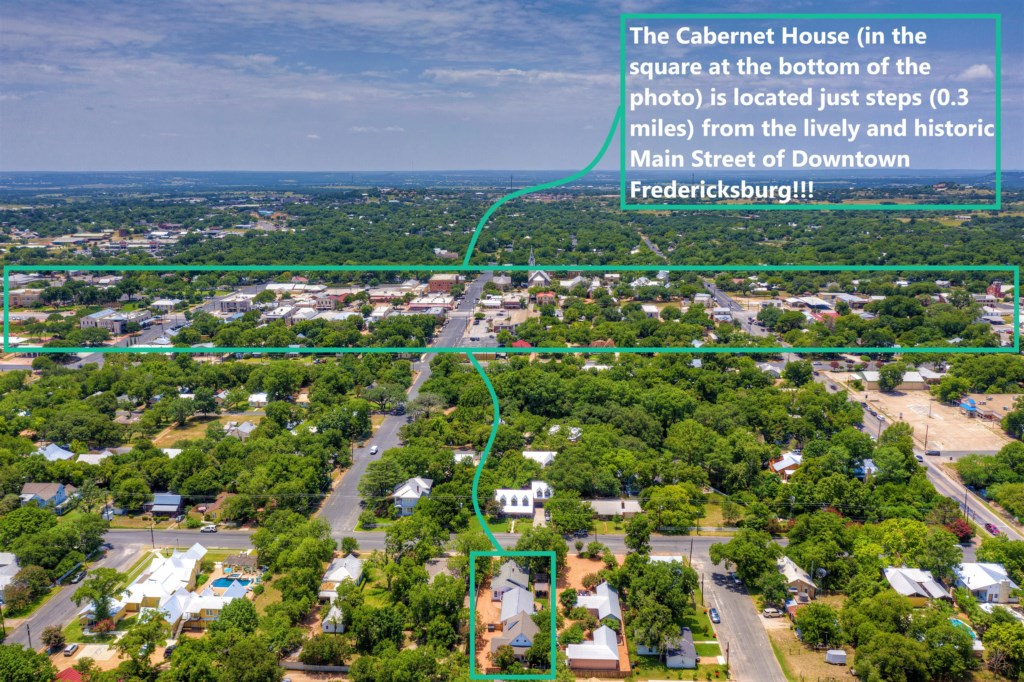 This stunning vacation rental is just 0.3 miles from Main St in Downtown Fredericksburg!