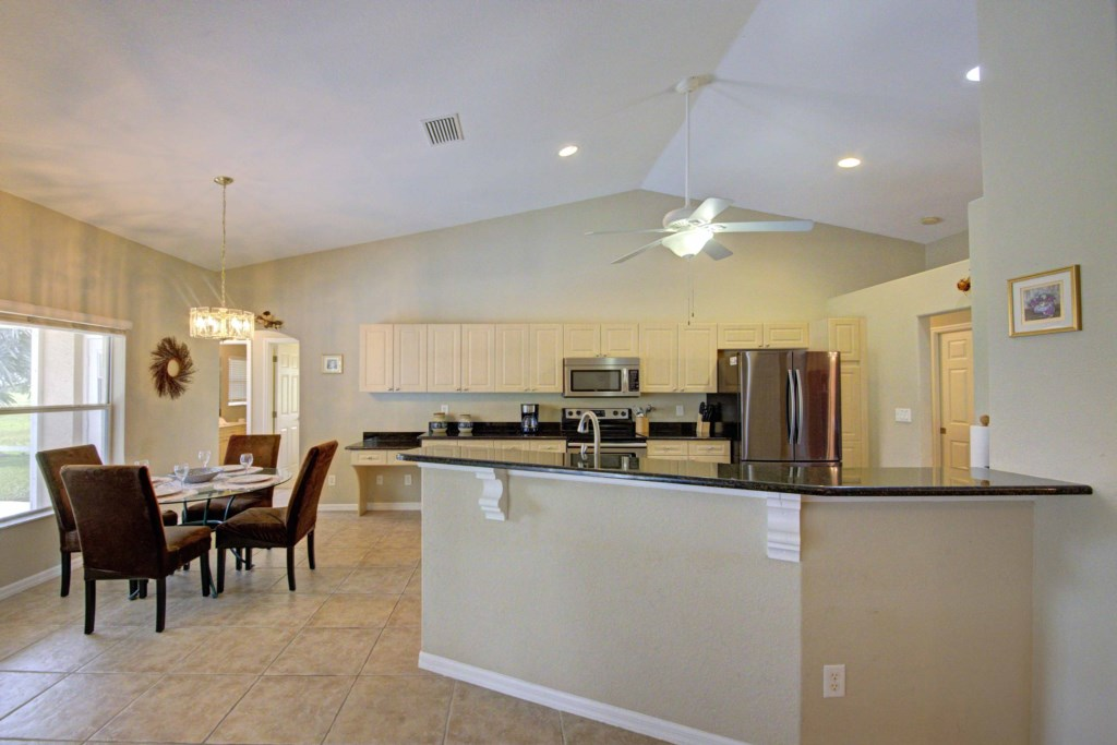 Your spacious home features soaring cathedral ceilings