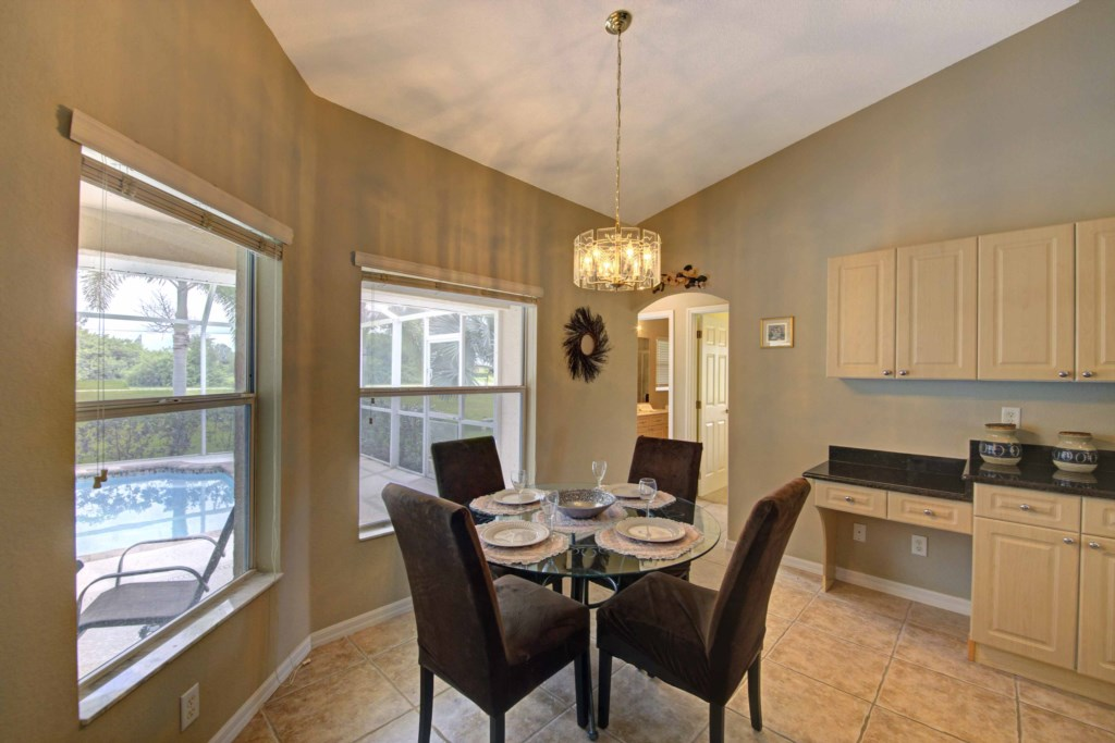 Natural light floods the home boasting large windows