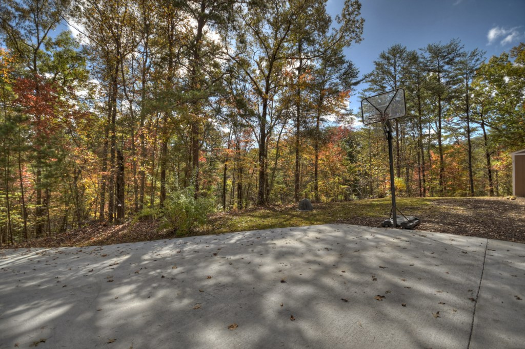 Ample parking and magnificent wooded views