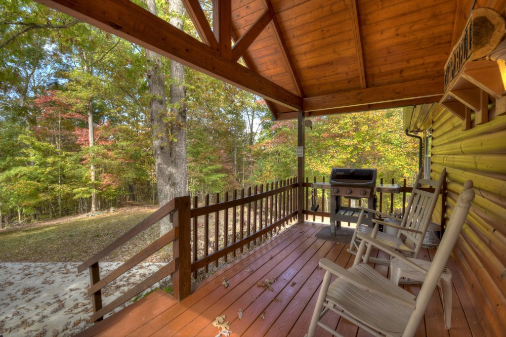 Wonderful woodland views from the porch