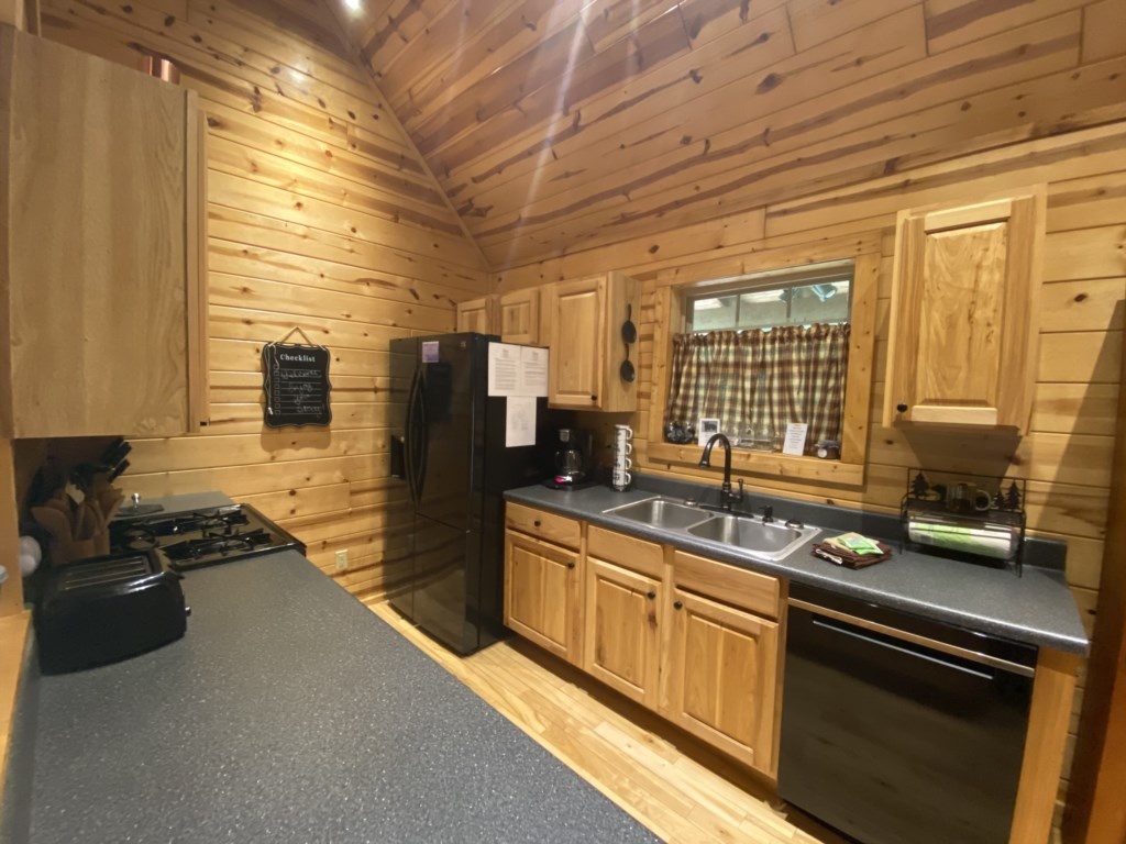 Galley Kitchen with all you could need for a perfect home from home experience