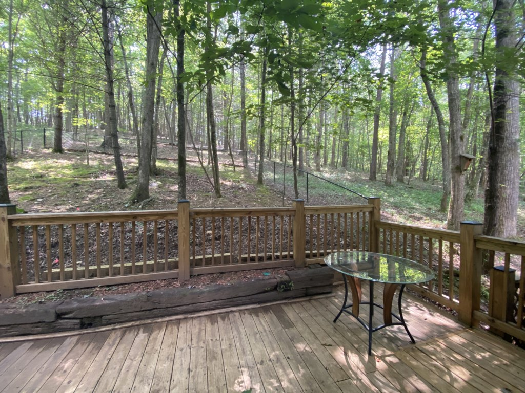 Listen to sounds of nature from your deck and admire the amazing woodland views