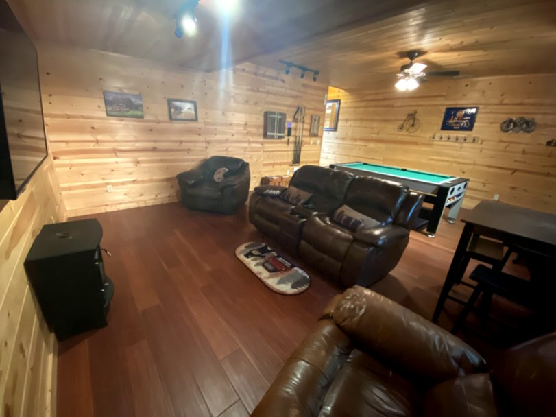 Amazing Game Room with TV and comfy seating