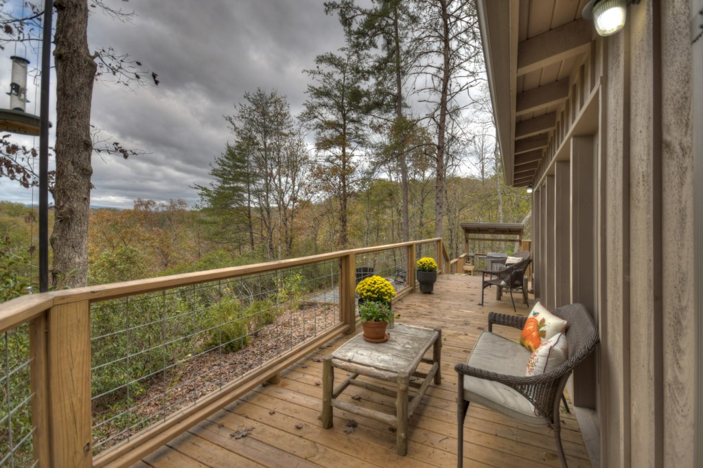 Beautiful spacious decks with year round Mountain views