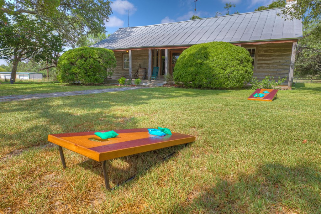 Enjoy fun games with our cornhole board! A great addition to enhance your stay!