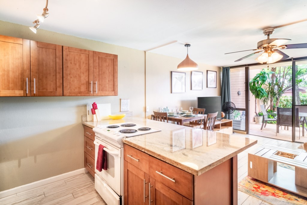 Granite Counters and A Kitchen Ready for a Chef